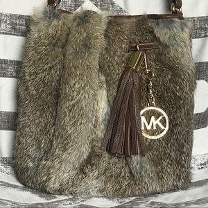 Michael Kors Bags - Real fur Michael Kors crossbody